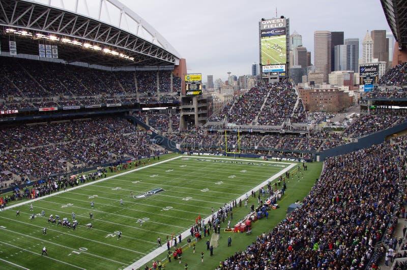 Игра Сиэтл Seahawks стоковая фотография rf