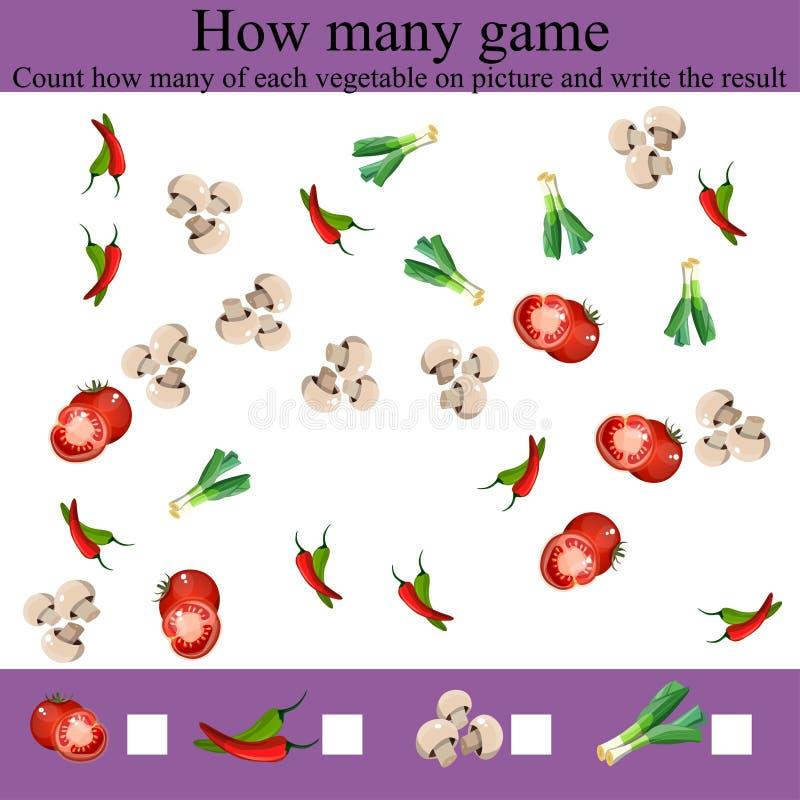 Игра сколько objcets иллюстрация вектора