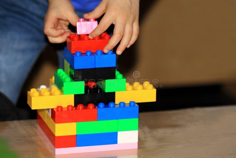 Игра с Lego стоковое фото rf