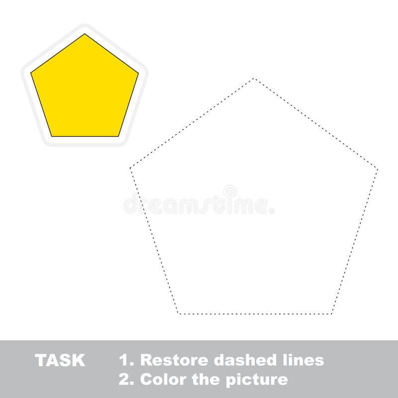 Игра трассировки вектора воспитательная для детей preschool бесплатная иллюстрация