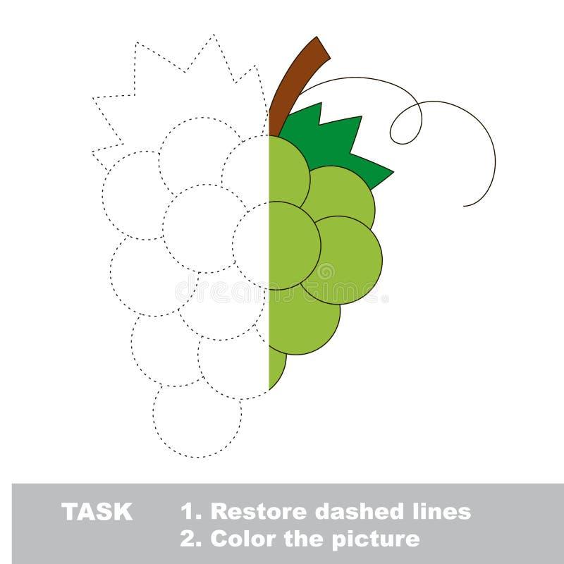 Игра трассировки вектора с ягодой иллюстрация штока
