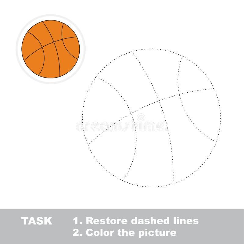 Игра трассировки вектора иллюстрация вектора