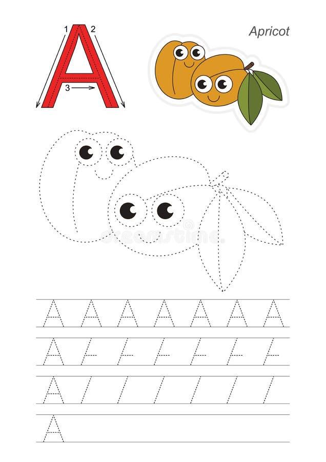 Игра трассировки для письма a Абрикосы бесплатная иллюстрация