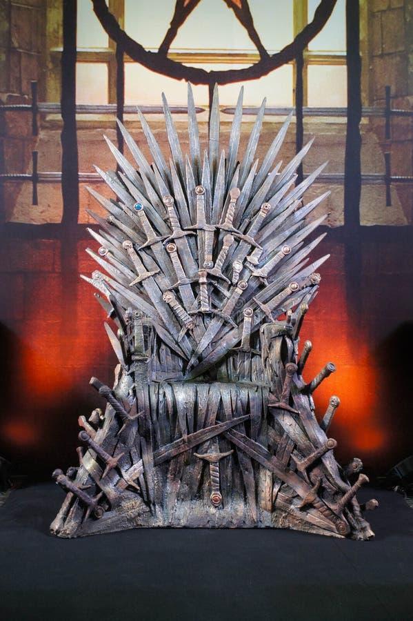 Игра трона стоковая фотография rf