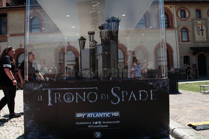 Игра тронов, милан 2017 стоковое изображение