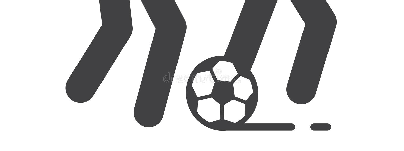 Игра футбола и футбольного матча иллюстрирует бесплатная иллюстрация