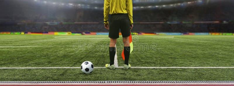 Игра футбола рефери стоковые фотографии rf