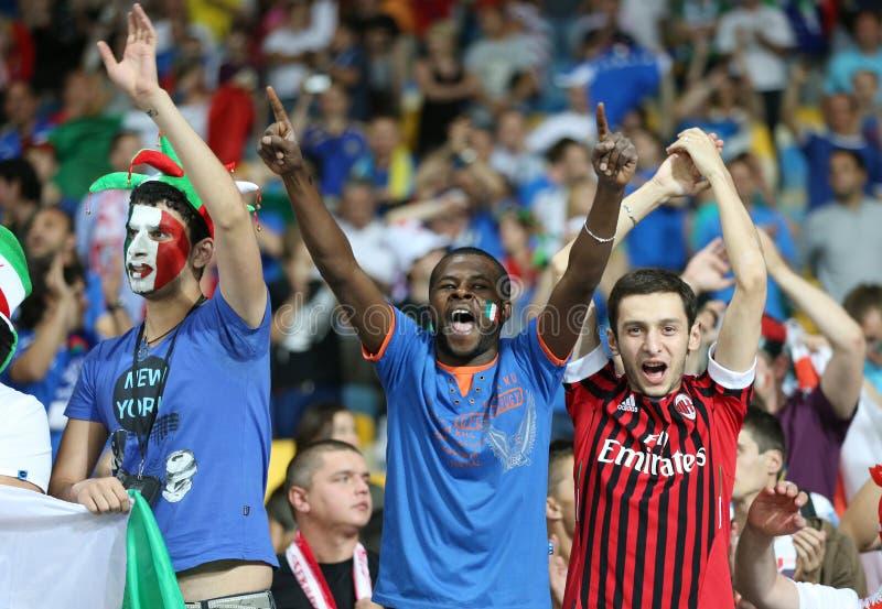 Игра 2012 четвертьфинала ЕВРО UEFA Англия v Италия стоковое изображение