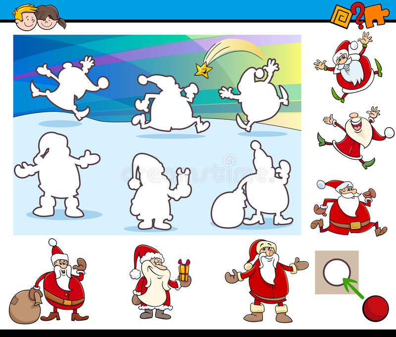 Игра шаржа воспитательная иллюстрация вектора