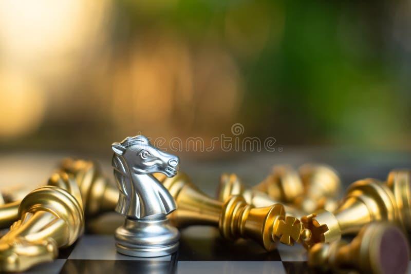 Игра шахматной доски, концепция дела конкурсная стоковая фотография rf