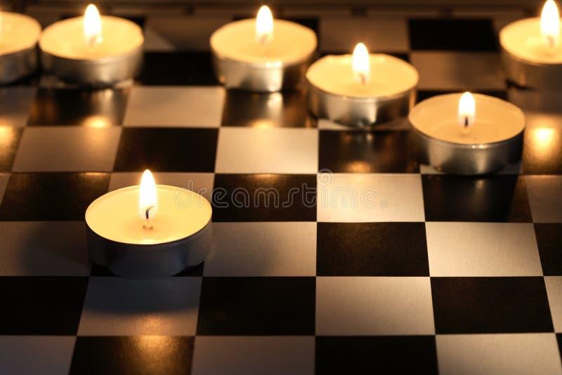 Игра шахмат пожара Стоковая Фотография RF