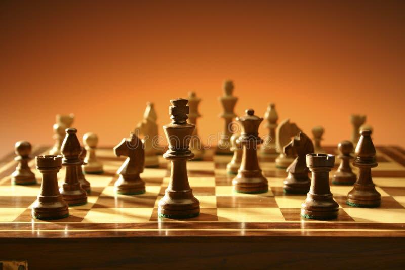 Игра шахмат стоковые изображения