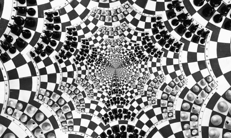 игра шахмат multi иллюстрация штока