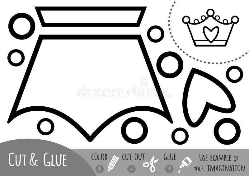 Игра для детей, крона образования бумажная иллюстрация штока