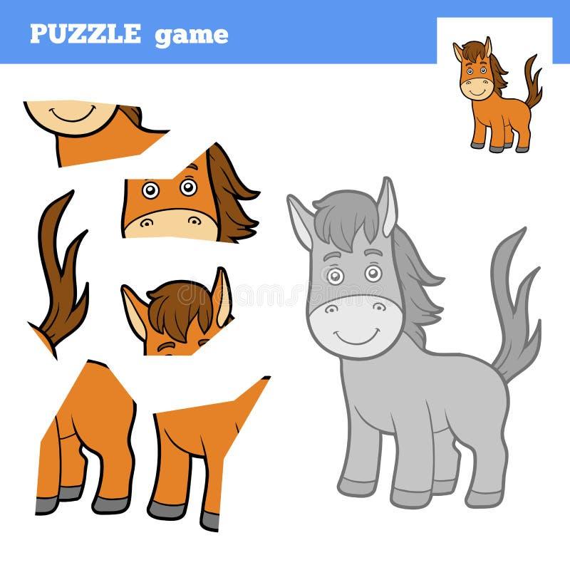 Игра для детей, лошадь головоломки бесплатная иллюстрация
