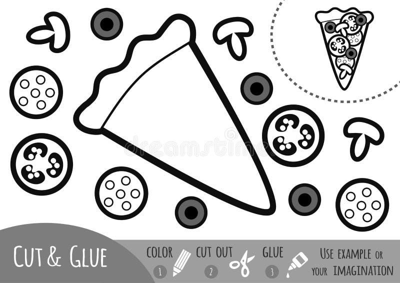 Игра для детей, пицца образования бумажная бесплатная иллюстрация
