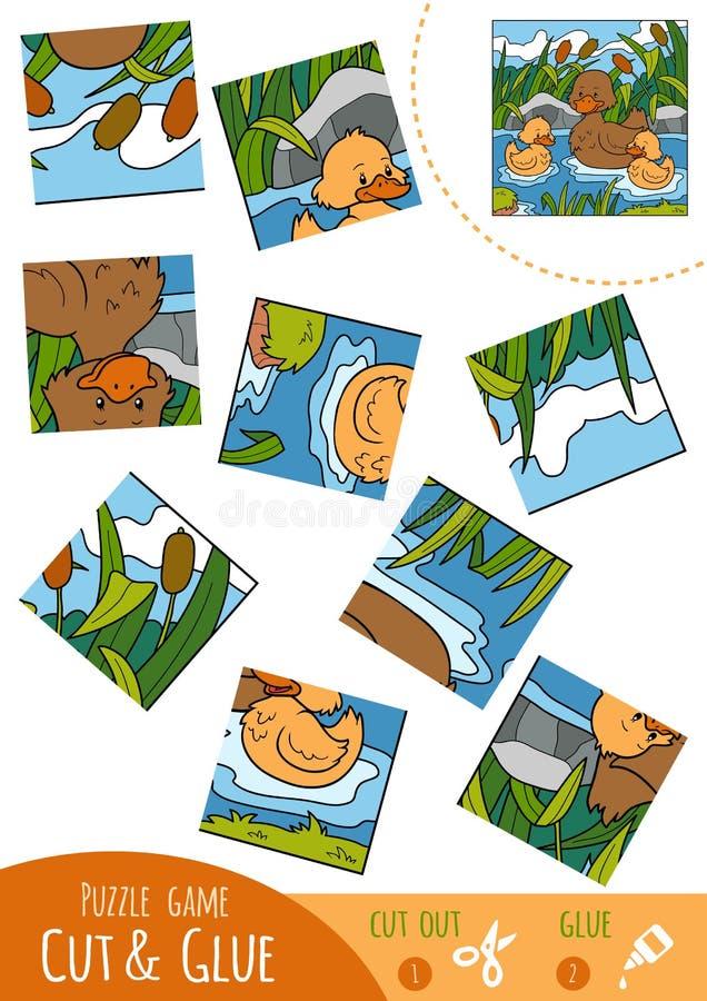 Игра для детей, семья головоломки образования утки бесплатная иллюстрация