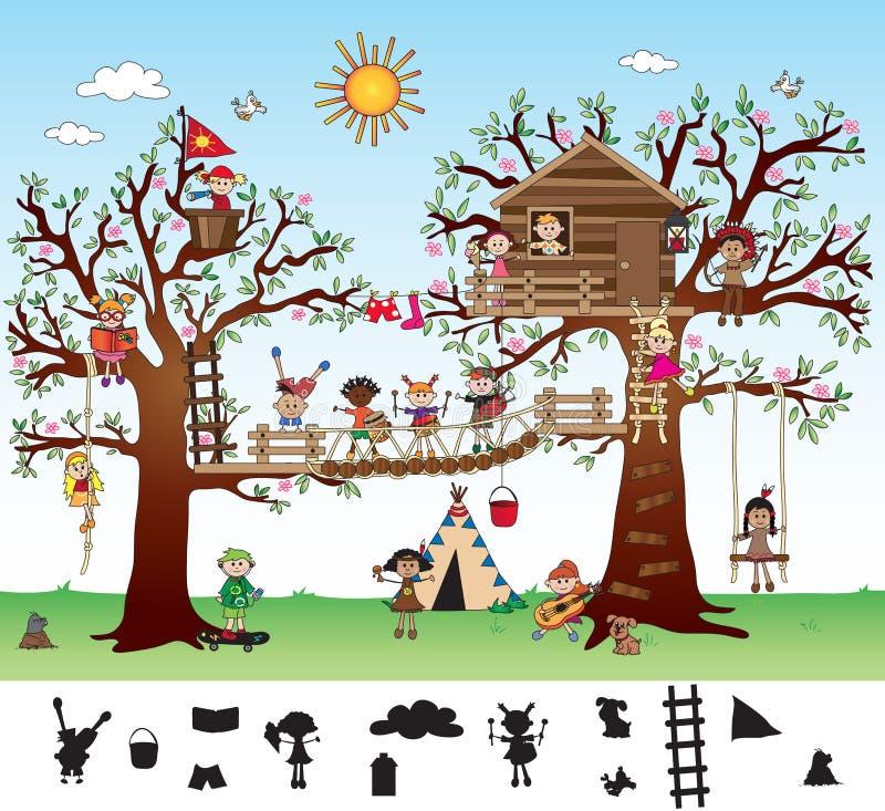 Игра для детей иллюстрация вектора