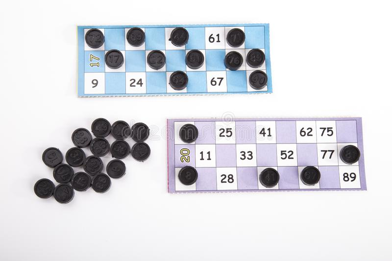 игра bingo, Новый Год, держа пари, стоковое изображение rf