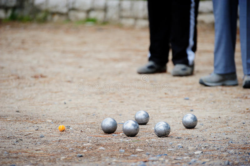 игра boules стоковые фотографии rf