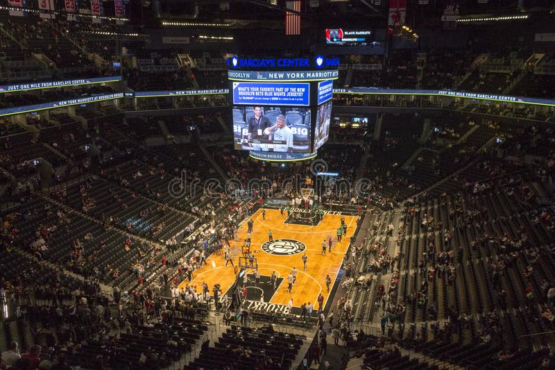 Игра NBA в центре Barclays стоковое фото