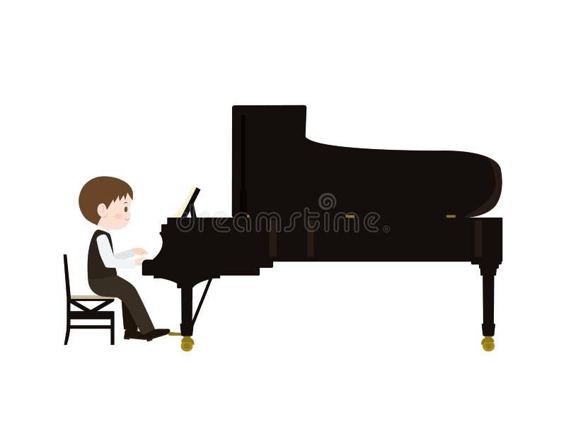 Игра piano1 иллюстрация вектора