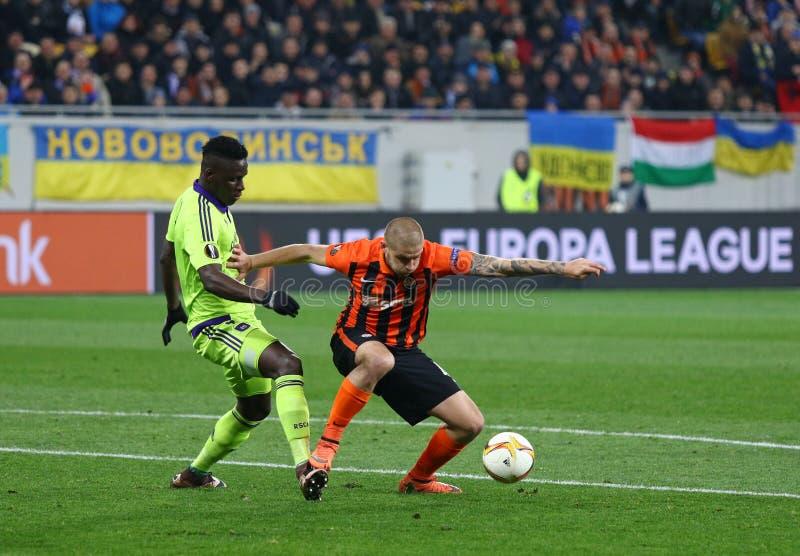 Игра Shakhtar Донецк лиги Европы Uefa против Anderlecht стоковые изображения rf