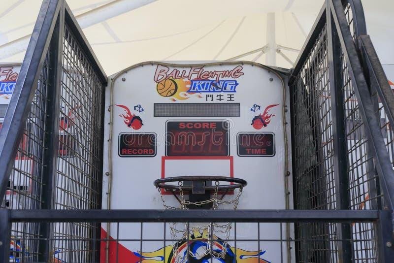 Игровой автомат всхода баскетбола стоковое изображение rf
