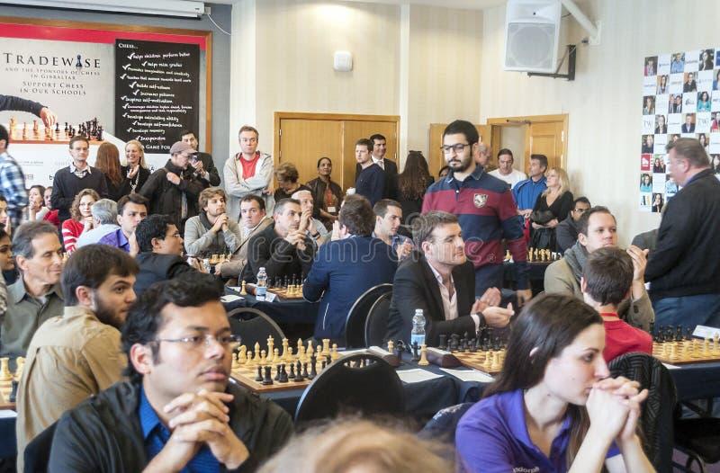 игроки 2 игры людей шахмат стоковое изображение