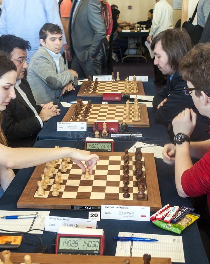 игроки 2 игры людей шахмат стоковые фотографии rf