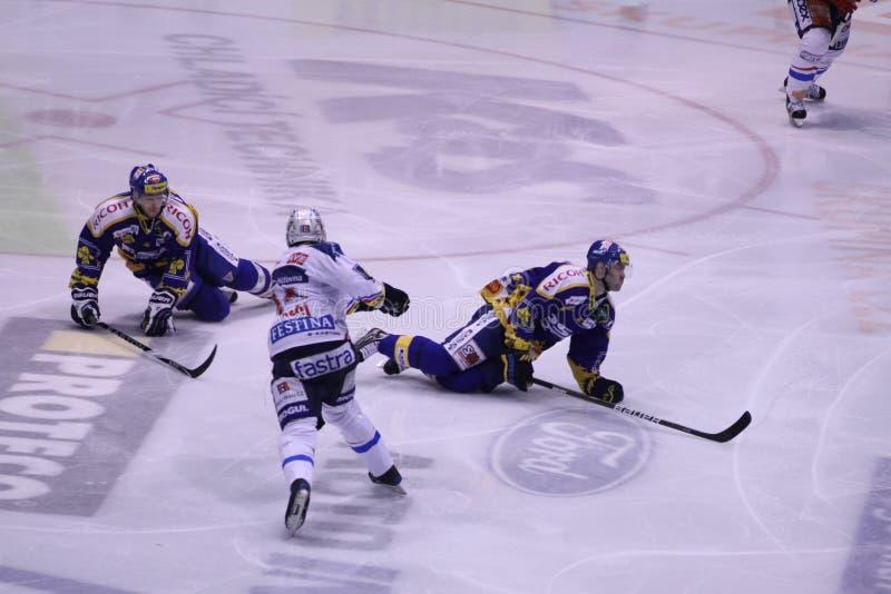 игроки спички хоккея selfsacrific стоковая фотография