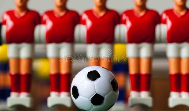 Игроки таблицы Foosball стоковые изображения rf