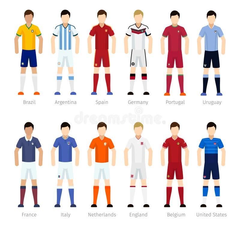 Игроки футбольной команды иллюстрация вектора