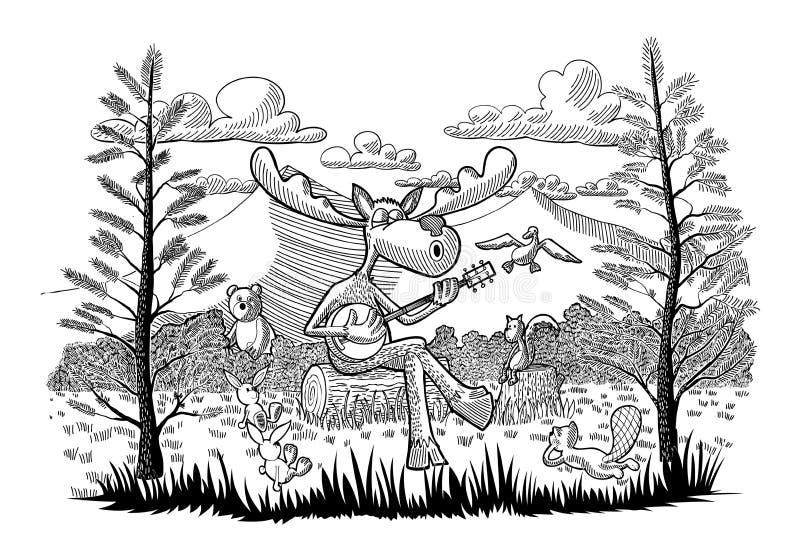 Игрок банджо иллюстрация штока