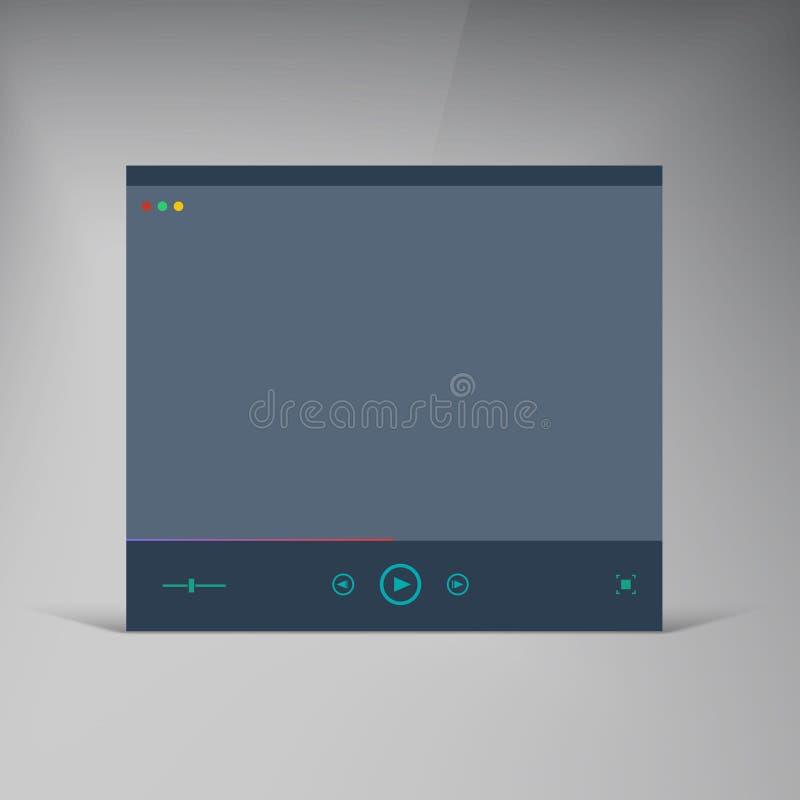 Download Игрок вектора Плоское окно брошюры UI Иллюстрация вектора - иллюстрации насчитывающей шестерня, backhoe: 40577194