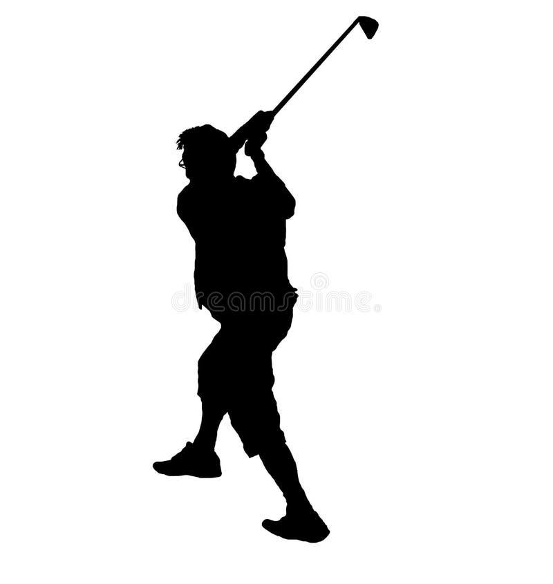 игрок в гольф иллюстрация вектора