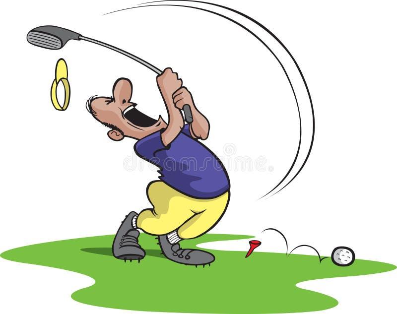 игрок в гольф 4 чокнутый бесплатная иллюстрация
