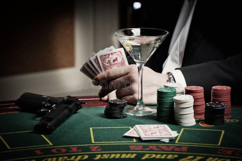Игрок в казино стоковая фотография rf