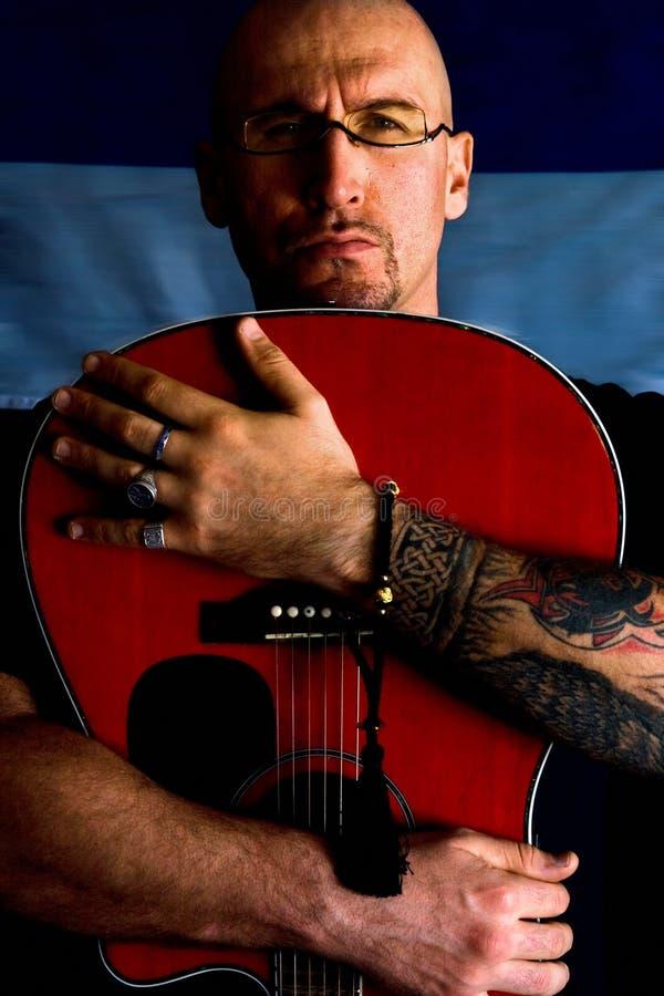 игрок гитары стоковое изображение