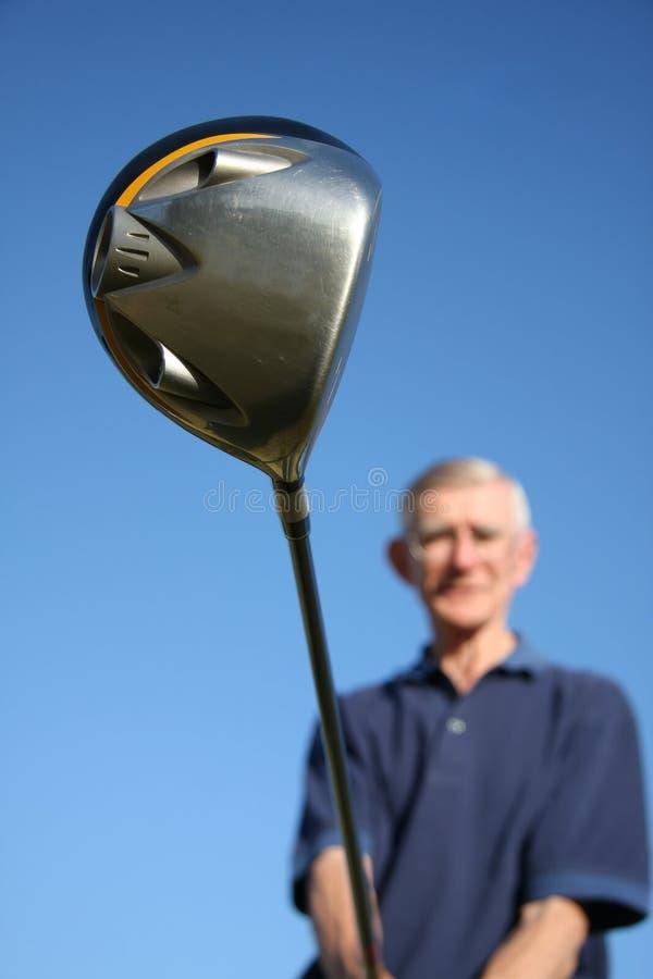 игрок гольфа клуба стоковое фото