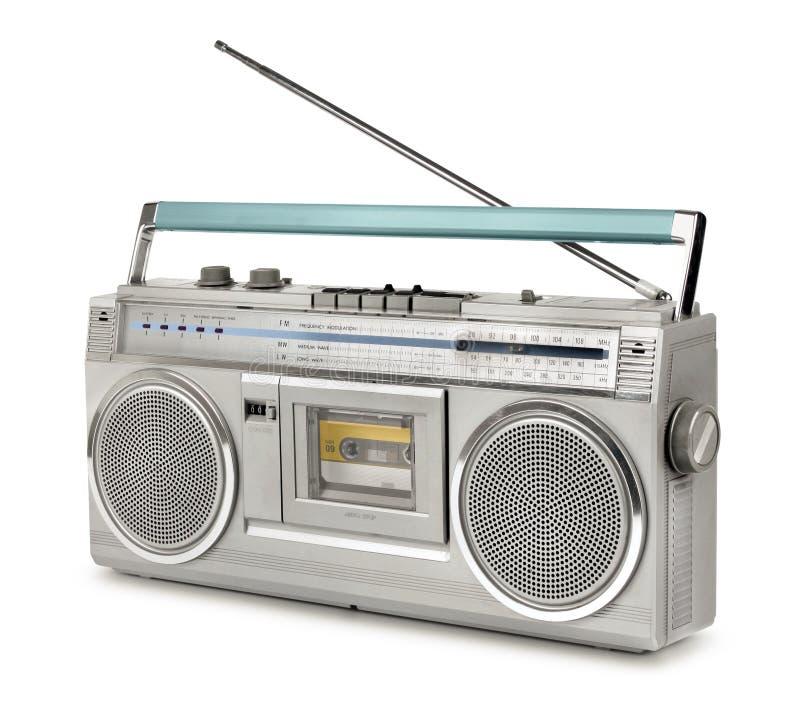 Игрок кассеты радио девятого десятка винтажный стоковые изображения rf
