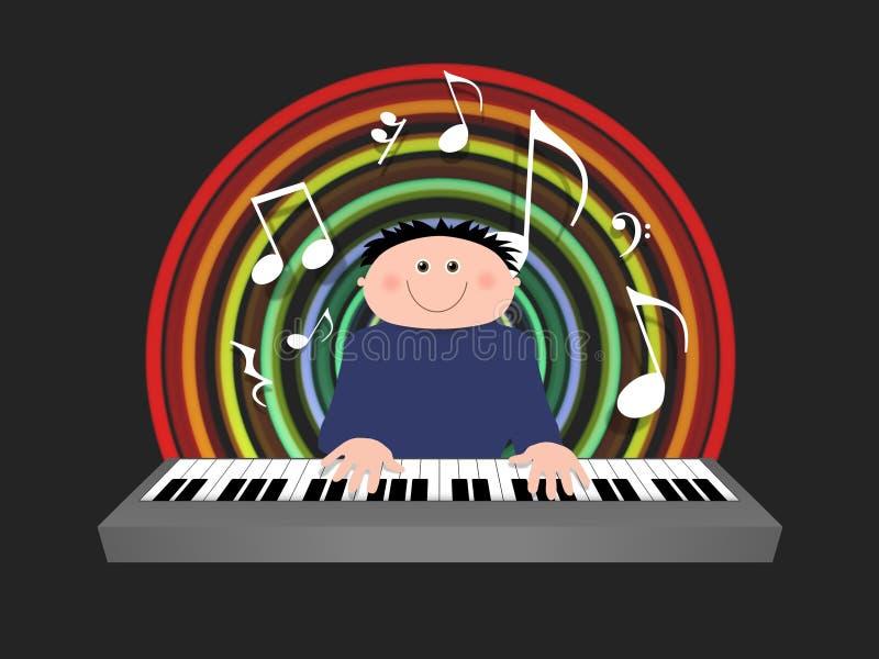 игрок клавиатуры бесплатная иллюстрация