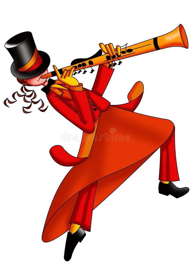 Игрок кларнета иллюстрация штока