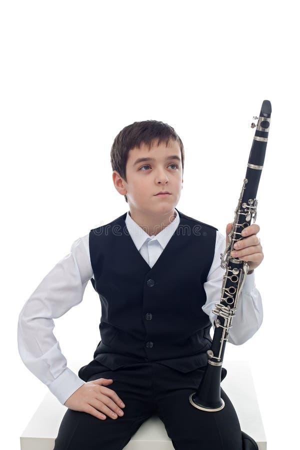 Игрок кларнета стоковое изображение rf
