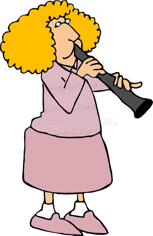 игрок кларнета иллюстрация вектора