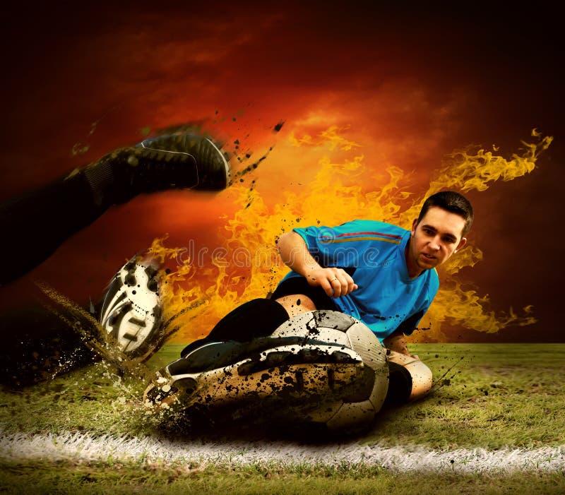игрок пожара стоковое фото