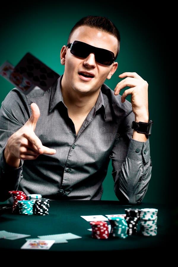 Игрок покера стоковые изображения rf