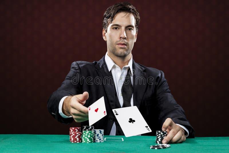 Игрок покера стоковая фотография