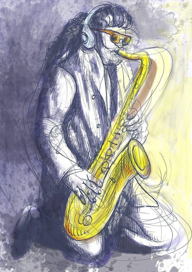 Игрок саксофона бесплатная иллюстрация