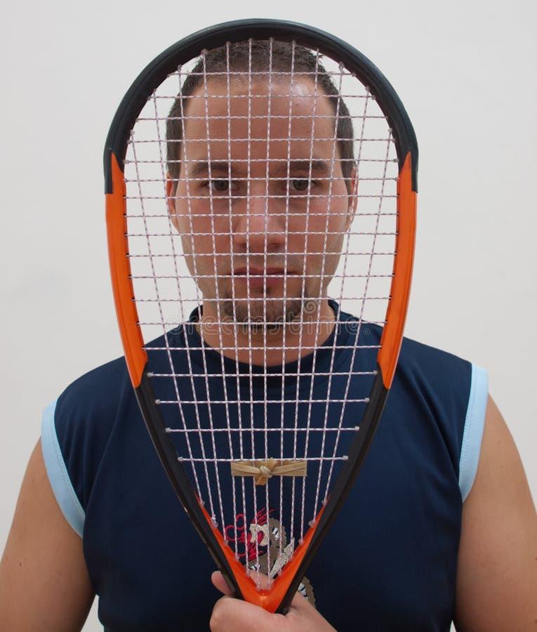 Игрок сквоша с ракеткой стоковые фото